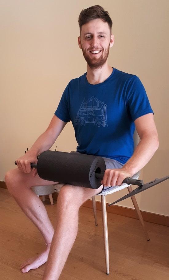 foam roller as massage stick